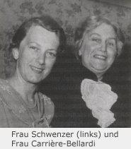 Fr. Schwenzer und Frau Carriere-Bellardi (rechts)